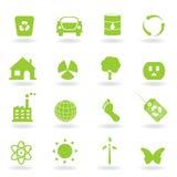Jogo do ícone de Eco Fotografia de Stock
