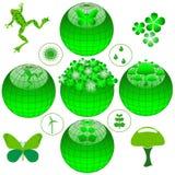 Jogo do ícone de Eco Imagens de Stock Royalty Free