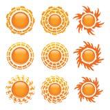 Jogo do ícone de Sun Imagem de Stock