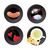 Jogo do ícone do alimento Foto de Stock Royalty Free