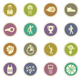 Jogo do ícone do basquetebol Fotografia de Stock