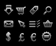 Jogo do ícone do comércio electrónico do vetor Foto de Stock Royalty Free