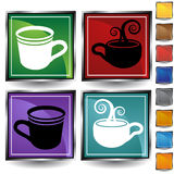 Jogo do ícone do copo de café Fotos de Stock Royalty Free