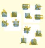 Jogo do ícone do curso Fotos de Stock Royalty Free