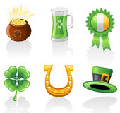 Jogo do ícone do dia do St. Patrick Fotografia de Stock Royalty Free