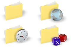 Jogo do ícone do dobrador ilustração stock