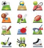 Jogo do ícone do esporte do vetor Fotos de Stock Royalty Free