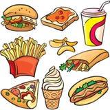 Jogo do ícone do fast food Foto de Stock Royalty Free