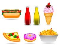 Jogo do ícone do fast food Ilustração Royalty Free