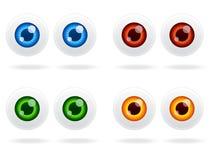 Jogo do ícone do globo ocular Imagem de Stock