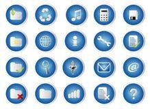 Jogo do ícone do glossário Fotos de Stock