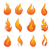 Jogo do ícone do incêndio Imagens de Stock