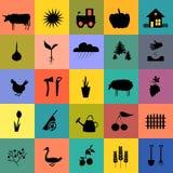Jogo do ícone do jardim Imagem de Stock Royalty Free