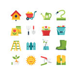 Jogo do ícone do jardim Imagens de Stock