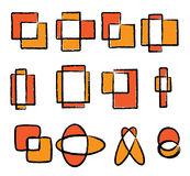Jogo do ícone do logotipo ilustração royalty free
