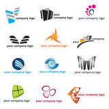 Jogo do ícone do logotipo Imagens de Stock