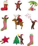 Jogo do ícone do Natal Fotografia de Stock Royalty Free