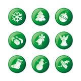 Jogo do ícone do Natal ilustração stock
