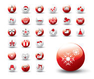 Jogo do ícone do Natal Fotos de Stock Royalty Free