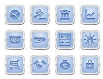 Jogo do ícone do negócio e da finança Imagem de Stock Royalty Free