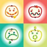 Jogo do ícone do sorriso Foto de Stock Royalty Free