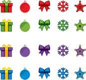 Jogo do ícone do vetor do Natal Fotos de Stock Royalty Free