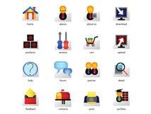 Jogo do ícone do Web Fotografia de Stock