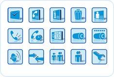 Jogo do ícone do Web e dos media Fotografia de Stock