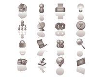 Jogo do ícone do Web site Imagens de Stock Royalty Free
