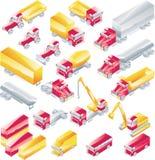 Jogo do ícone dos caminhões do vetor