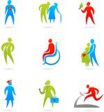 Jogo do ícone dos cuidados médicos Foto de Stock