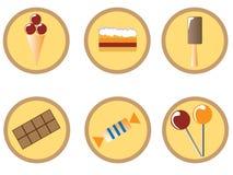 Jogo do ícone dos doces ilustração royalty free