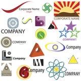 Jogo do ícone dos elementos do logotipo do negócio Fotografia de Stock