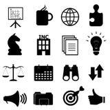 Jogo do ícone dos objetos do negócio Imagens de Stock