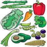 Jogo do ícone dos produtos de dieta Fotografia de Stock