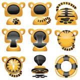 Jogo do ícone dos tigres Imagem de Stock Royalty Free