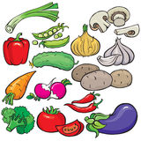 Jogo do ícone dos vegetais fotos de stock