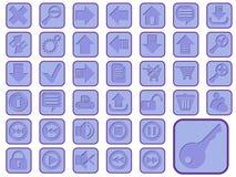 Jogo do ícone para o Web Imagens de Stock