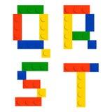 Jogo do alfabeto feito de blocos do tijolo da construção do brinquedo Foto de Stock