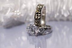 Jogo do anel de casamento imagem de stock