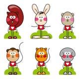 Jogo do animal dos desenhos animados Imagens de Stock Royalty Free