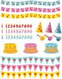 Jogo do aniversário Imagens de Stock Royalty Free