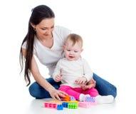 Jogo do bebé e da matriz junto Imagem de Stock