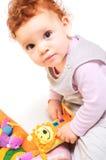 Jogo do bebê do Redhead Fotografia de Stock Royalty Free
