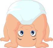 Jogo do bebê dos desenhos animados de cabeça para baixo Fotografia de Stock Royalty Free