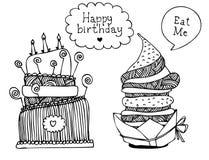 Jogo do bolo da sobremesa Fotografia de Stock Royalty Free