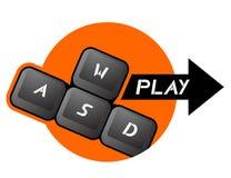 Jogo do botão Fotos de Stock