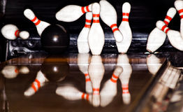 Jogo do bowling Fotos de Stock Royalty Free