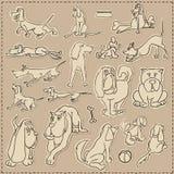Jogo do cão de Scrapbooking Imagem de Stock Royalty Free