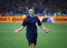 Jogo 2016 do círculo de qualificação do EURO do UEFA Ucrânia contra a Espanha Fotos de Stock Royalty Free